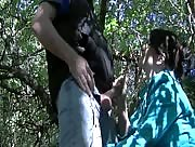 Handjob In The Woods