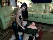 Big Penis Handjob from a Hot Domina