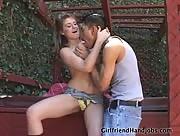 Sexy Girl jerking her Boyfriend