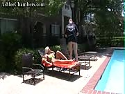 Sexy Blonde Ashley Chambers Handjob At The Pool