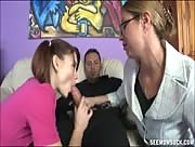 Milf And Teen Tag Team A Dick