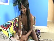 Teen Ebony Gets Cum Splattered