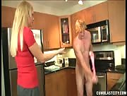 Hot Blonde Handjob