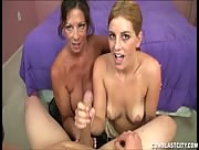 Mother And Daughter Tag Handjob
