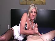 Mother stroking Son