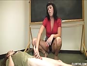 Horny Teacher Give Student Hanjob