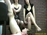 Loser gets teased by two women