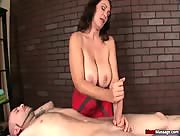 Busty milf cock treatment from Charlee Chase