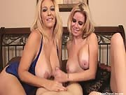 Two Blonde MILFS Making Man Cum Hard