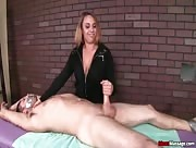 Dominant teen handjob