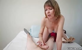 Milf Jerking off Young Boy