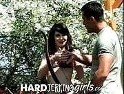 Electra Angel Hand job Outdoors