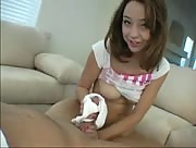 Handjob with Panties