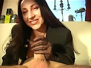 Hot mature Face Sitting and Gloved Handjob