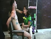 Young Girl Scout Forces A Guy To Cum With A Handjob