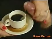 Cumshot in Coffee Cup