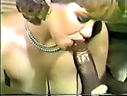 Vintage porn - chick jerks off black guy