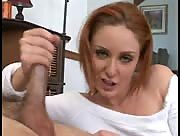 Redhead Handjob