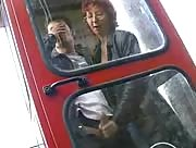dude gets jerked off in a phone box
