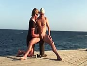 Handjob Next To The Sea