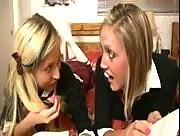 Taylor Raz and Jenni Schoolgirls Handjob