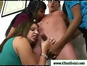 Three Horny Girls Jerk A Dick
