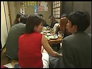 Asian Handjob In The Restaurant