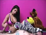 Fox In Socks Handjob and Footjob With Alexis