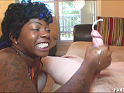 Honky Handjob - Black Sista Handjob With a Big White Dick!