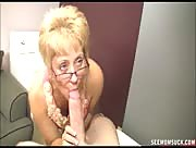 Perverted Mom Sucks Off Son and Gives Him A Jerk Job