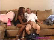 Black Sista Tasha Tame Handjob White Guy