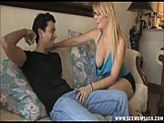 Mom and God Son Have a Sucking Fest In Living Room In this hot free clip from Seemomsuck.com