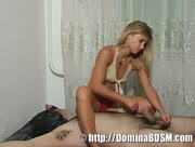 Handjob For Helpless Slave - BDSM Jerking