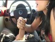 Handjob In Car With A Monster Big Penis