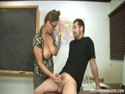 Stacie Starr Makes Boy Student Cum