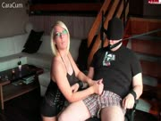 Tied Jerk With Dirty Talking German Model, Cara Cum