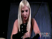 Dirty Talking Blonde Fem Dom With Leather Gloves is In Control