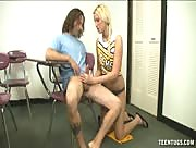 Vanessa Cage School girl in cheerleader