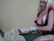 Milf Miss Minxie Nurse Gloved Helping Handjob