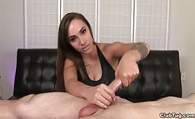 Sasha Foxx Cumshot from Handjob