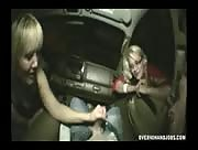 Drunk Mom and Teen Handjob In The Car
