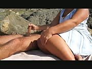 Big Wife Beach Handjob