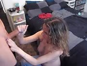 Quick Spray Massive Facial Wherin Dude Cums in Undr One Minute