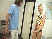 Hot Schoolgirl Jerking Off