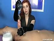 Dominant Redhead Sadie Kennedy CumLube Handjob