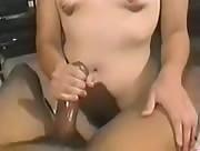 Black Cock handjob