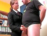 Fully Clothed CFNM Handjob with Innocent Schoolgirl