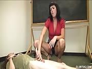 Horny Teacher Give Student Hanjob