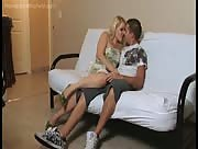 Teenagers in Love - Girlfriend Milks His Cock after Making Out
