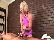 Smoking Handjob with Massage
